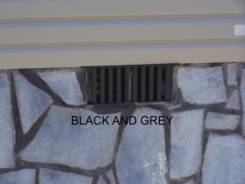 Black and Grey Mobile Home Skirting